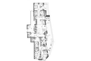 ЖК Krauss Gallery: планировка 3-комнатной квартиры 229.82 м²