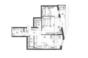 ЖК Krauss Gallery: планування 1-кімнатної квартири 67 м²