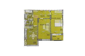 ЖК KromaxBud: планировка 2-комнатной квартиры 60 м²