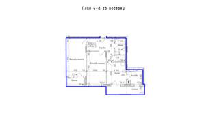 ЖК KromaxBud: планировка 2-комнатной квартиры 64.2 м²