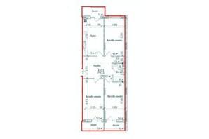 ЖК KromaxBud: планировка 3-комнатной квартиры 87 м²