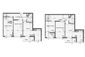 ЖК KromaxBud: планировка 4-комнатной квартиры 135.36 м²