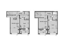 ЖК KromaxBud: планировка 2-комнатной квартиры 80.7 м²