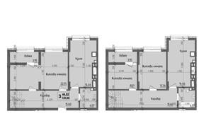 ЖК KromaxBud: планировка 3-комнатной квартиры 120.86 м²