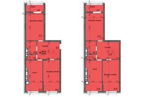 ЖК KromaxBud: планировка 4-комнатной квартиры 138.76 м²