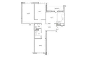ЖК Krona Park 2: планування 3-кімнатної квартири 84.77 м²