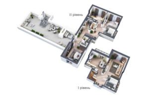 ЖК Krona Park: планировка 4-комнатной квартиры 156.4 м²