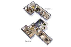 ЖК Krona Park: планировка 5-комнатной квартиры 183.5 м²