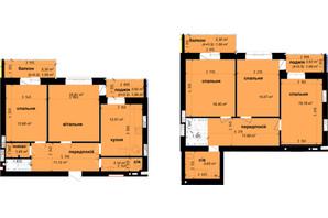 ЖК Кришталеві джерела: планировка 5-комнатной квартиры 130.27 м²