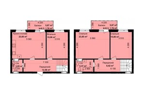 ЖК Кришталеві джерела: планировка 3-комнатной квартиры 110.76 м²