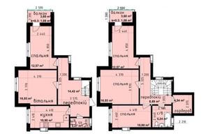 ЖК Кришталеві джерела: планировка 5-комнатной квартиры 118.32 м²