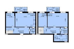 ЖК Кришталеві джерела: планировка 5-комнатной квартиры 119.65 м²