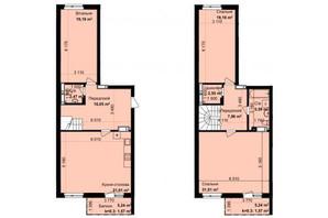 ЖК Кришталеві джерела: планировка 3-комнатной квартиры 138.06 м²