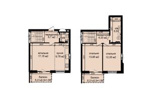 ЖК Кришталеві джерела: планировка 3-комнатной квартиры 75.94 м²
