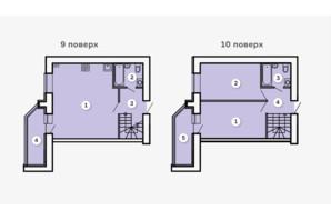 ЖК Kvartal: планування 2-кімнатної квартири 79.86 м²