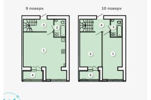 ЖК Kvartal: планування 2-кімнатної квартири 94.99 м²
