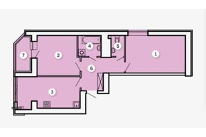 ЖК Kvartal: планировка 2-комнатной квартиры 65.69 м²