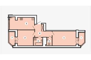 ЖК Kvartal: планировка 2-комнатной квартиры 69.42 м²