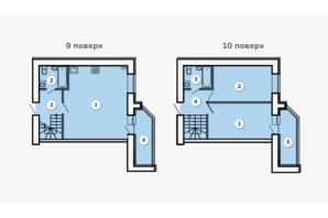 ЖК Kvartal: планировка 2-комнатной квартиры 80.85 м²
