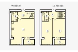 ЖК Kvartal: планировка 2-комнатной квартиры 94.99 м²