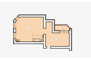 ЖК Kvartal: свободная планировка квартиры 71.69 м²
