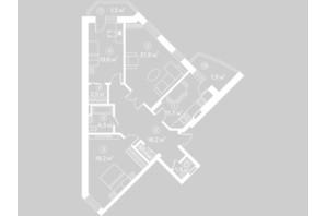 ЖК Киевский Шлях: планировка 3-комнатной квартиры 96.9 м²