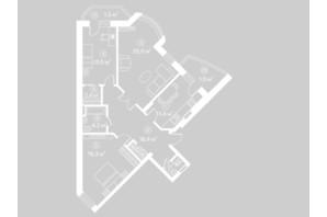 ЖК Киевский Шлях: планировка 3-комнатной квартиры 99.7 м²