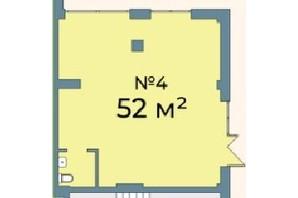 ЖК Kyiv Sky: планування приміщення 52 м²