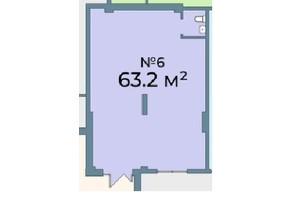 ЖК Kyiv Sky: планування приміщення 63.2 м²