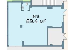 ЖК Kyiv Sky: планування приміщення 89.4 м²