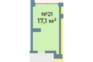 ЖК Kyiv Sky: планування приміщення 17.1 м²