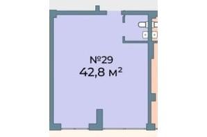 ЖК Kyiv Sky: планування приміщення 42.8 м²