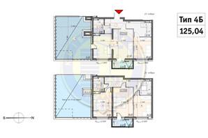 ЖК Кирилловский Гай: планировка 4-комнатной квартиры 110.25 м²