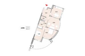 ЖК La Mer: планування 3-кімнатної квартири 98.63 м²
