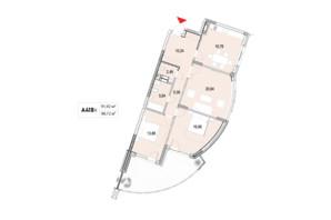 ЖК La Mer: планування 3-кімнатної квартири 98.72 м²