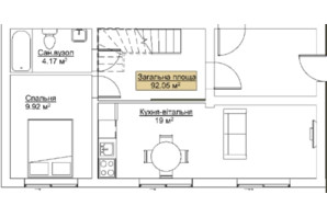 ЖК Лайм-2: планировка 2-комнатной квартиры 92.05 м²