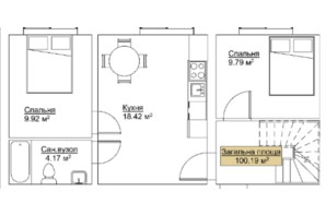 ЖК Лайм-2: планировка 3-комнатной квартиры 100.16 м²