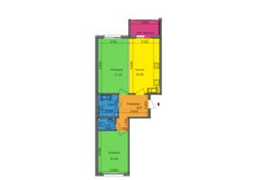 ЖК Lalaland: планировка 2-комнатной квартиры 65.61 м²