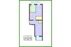 ЖК Лазурный: планировка 4-комнатной квартиры 128.85 м²