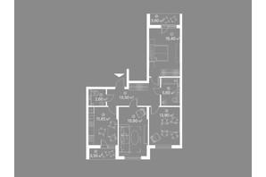 ЖК Лебединий: планування 2-кімнатної квартири 86.6 м²
