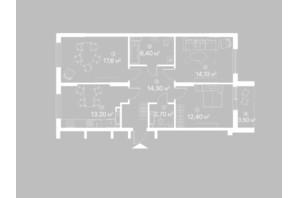 ЖК Лебединий: планування 2-кімнатної квартири 84.2 м²