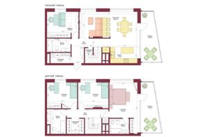 ЖК Legenda: планування 4-кімнатної квартири 160 м²