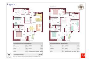 ЖК Legenda: планування 5-кімнатної квартири 194.2 м²