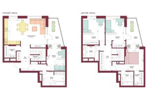 ЖК Legenda: планировка 4-комнатной квартиры 160.6 м²