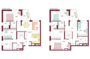 ЖК Legenda: планировка 5-комнатной квартиры 194.2 м²
