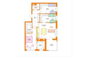 ЖК Legenda: планировка 3-комнатной квартиры 94.6 м²