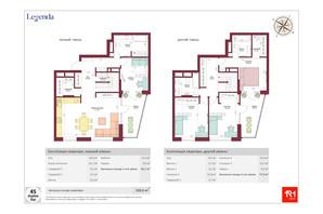 ЖК Legenda: планировка 5-комнатной квартиры 160.6 м²