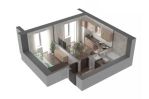 ЖК Лелека 3: планування 1-кімнатної квартири 45 м²