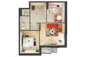 ЖК Лесной квартал: планировка 2-комнатной квартиры 70.41 м²