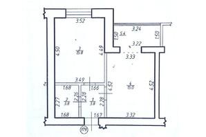 ЖК Левада Затишна: планування 1-кімнатної квартири 43.6 м²